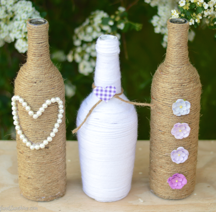 Wedding Craft DIY Rope Vase