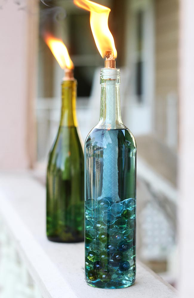 Wine Bottle Cintronella Candles