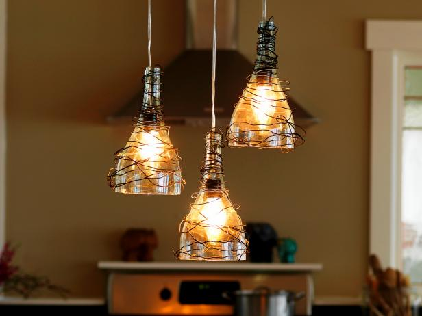 Wine Bottle Pendant Lights