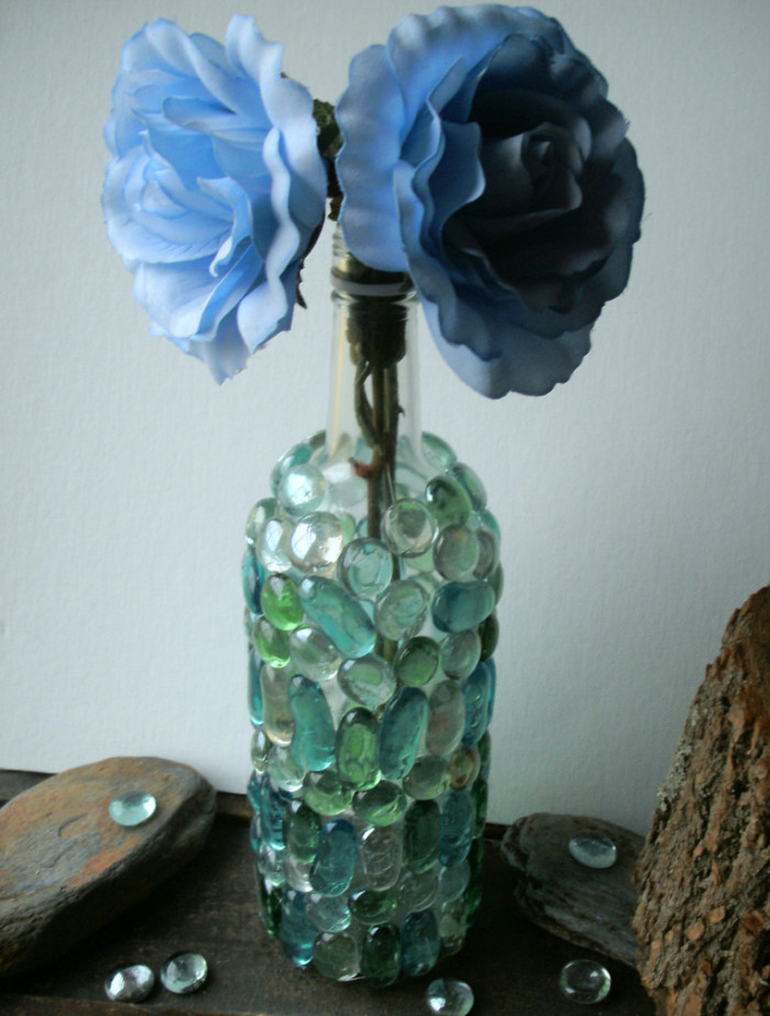 Wine Bottle Upcycle Vase