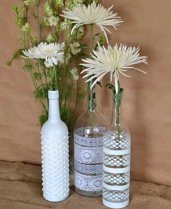 Wine Bottle Vase Centerpiece