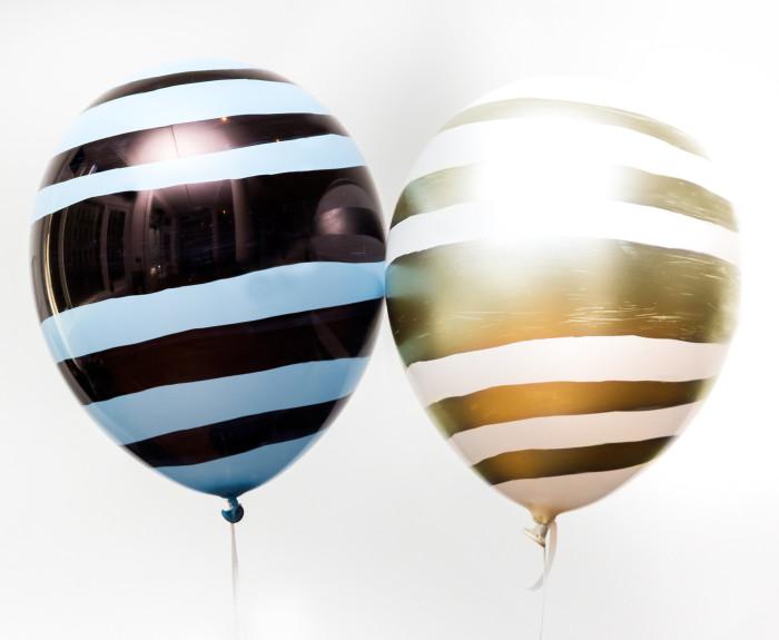 BlueBlack GoldWhite Balloon for Decoration