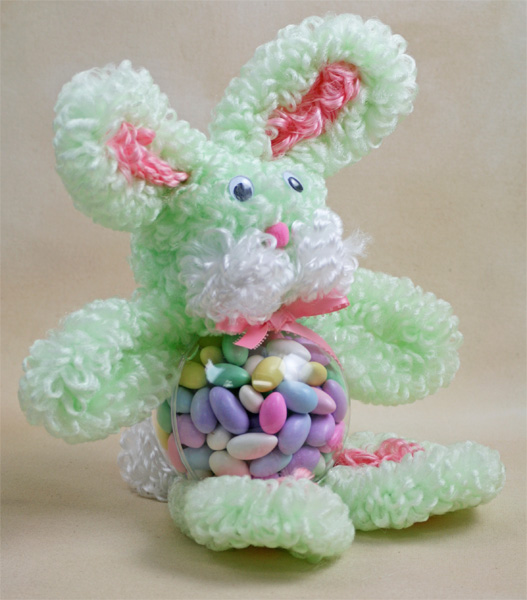 Bunny Candy Holder Loopy Chenille