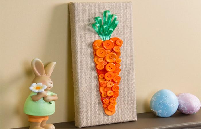 Button Carrot Canvas Header