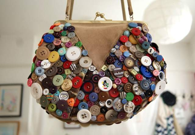 Button Decoration on Handbag