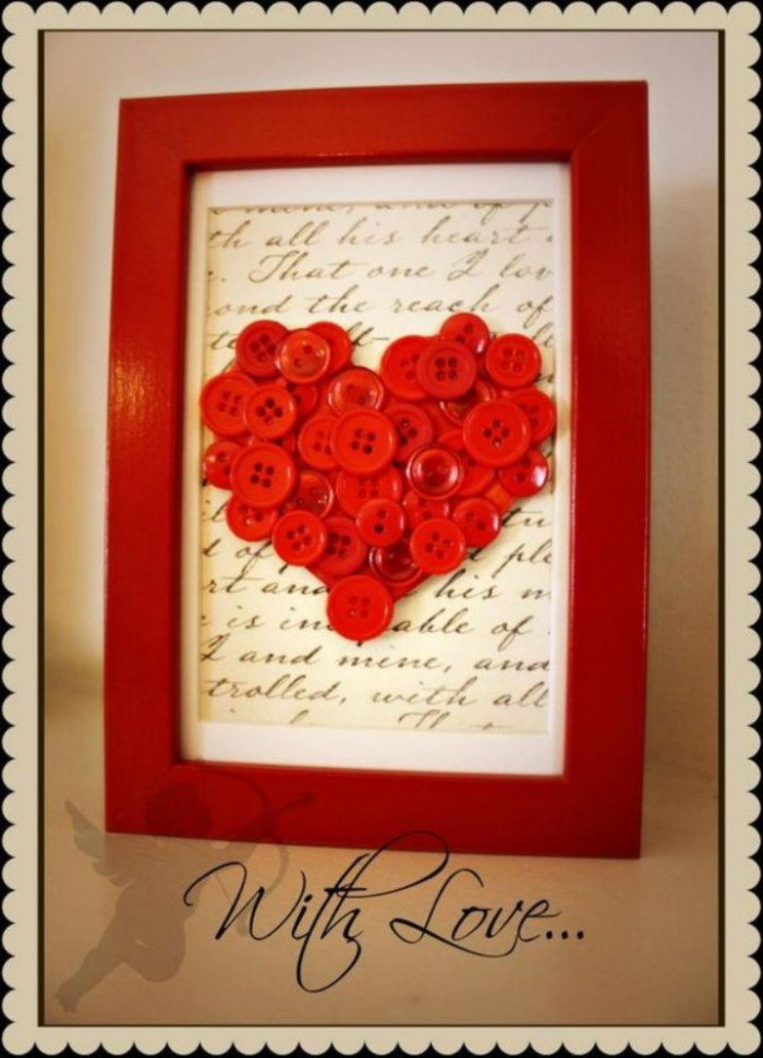 Button Love Frame