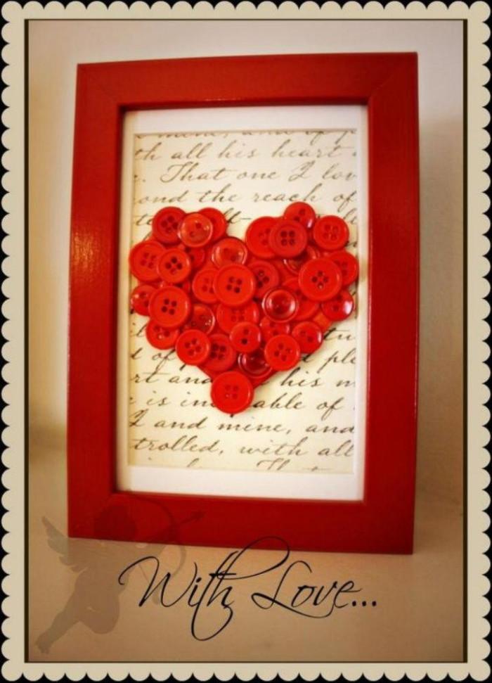 Button Love Frame