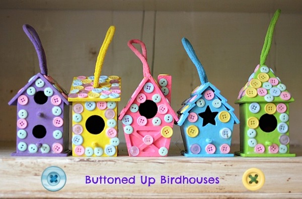 Buttoned Up Birdhouses