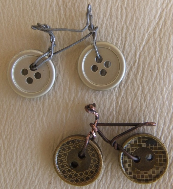 DIY Button Bikes
