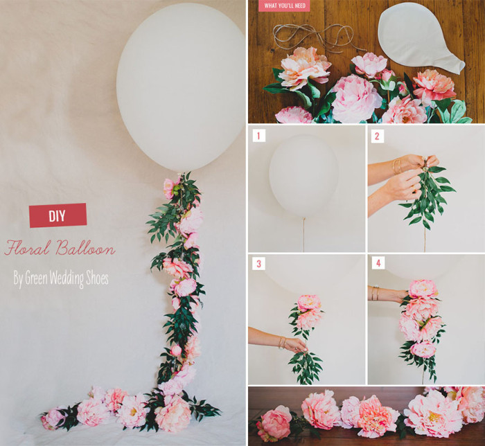 28 creative balloon decoration ideas for parties home designing diy floral balloon junglespirit Gallery