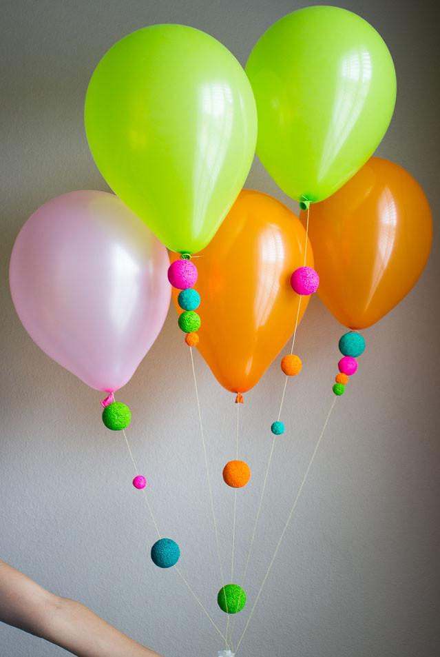 DIY Foam Ball Balloons