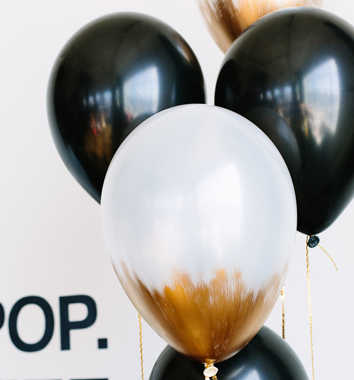 DIY Gold Dipped Balloons