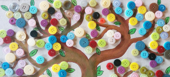 DIY Little Button Tree