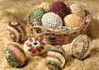 Decorative Easter Eggs with Seeds