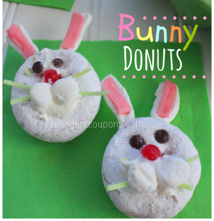 Easter Bunny Mini Donuts