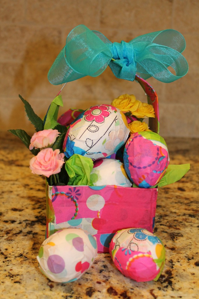 Easter Eggs Decorated with Tissue Paper