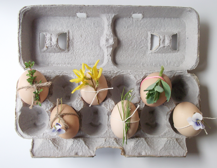Flower Carton Easter Eggs