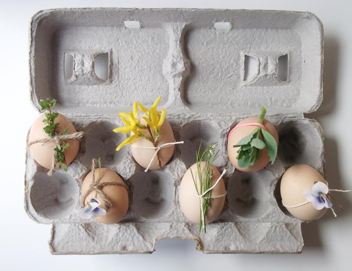 Flower Carton Easter Eggs