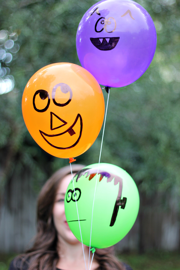 Friendly Halloween Monster Balloons