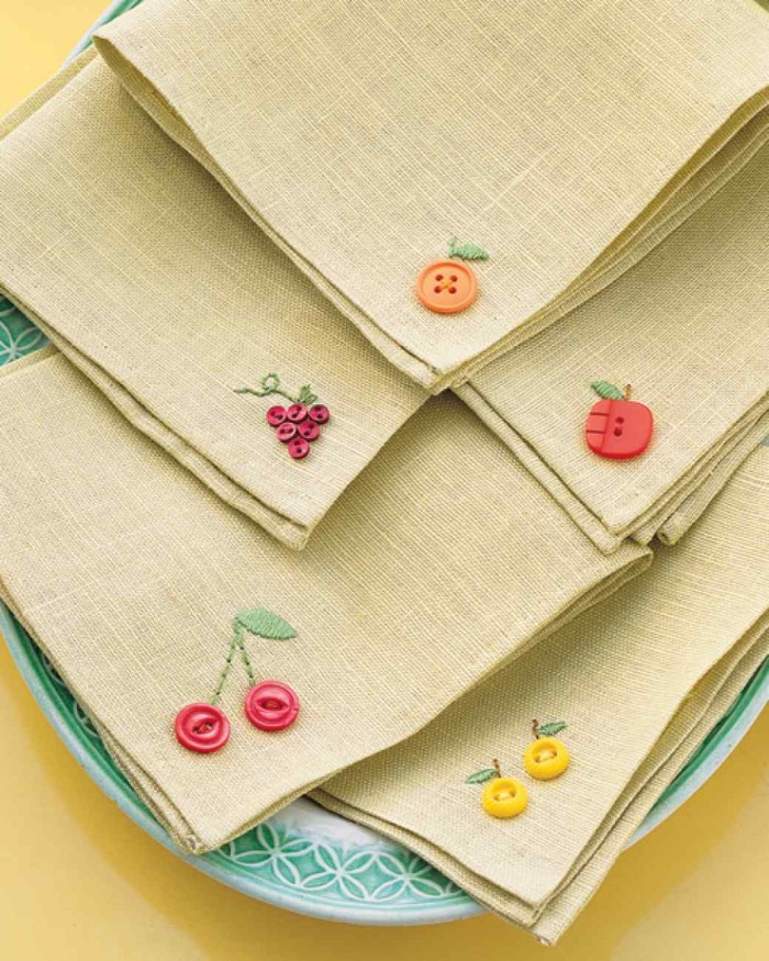 Fruity Button Embroidery