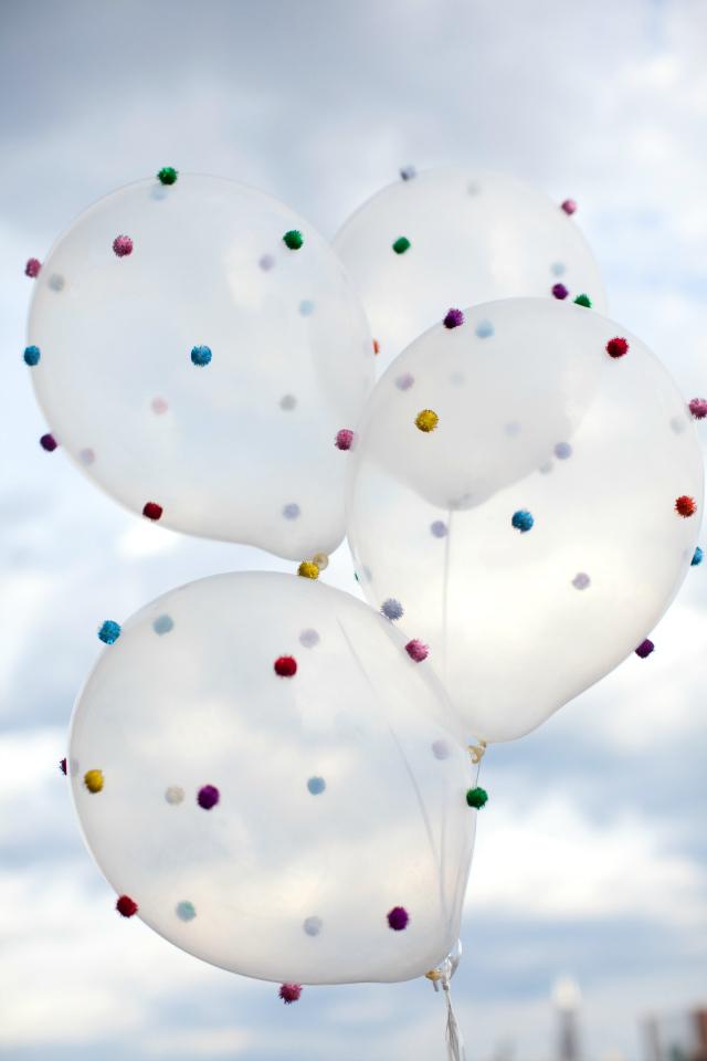 Fun Pom-Pom Balloons