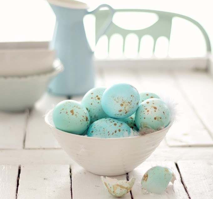 Golden Speckled Eggs
