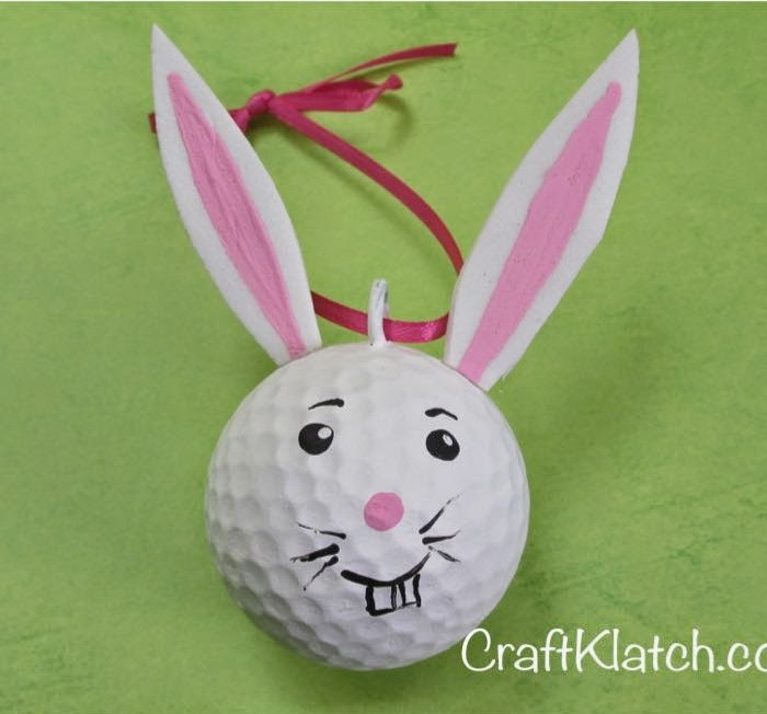 Golf Ball Easter Bunny