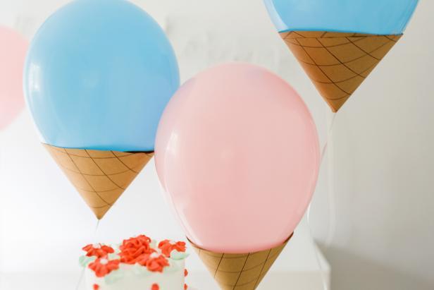 Ice Cream Cone Party Balloons
