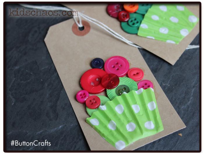 KidsChaos Button Cupcakes