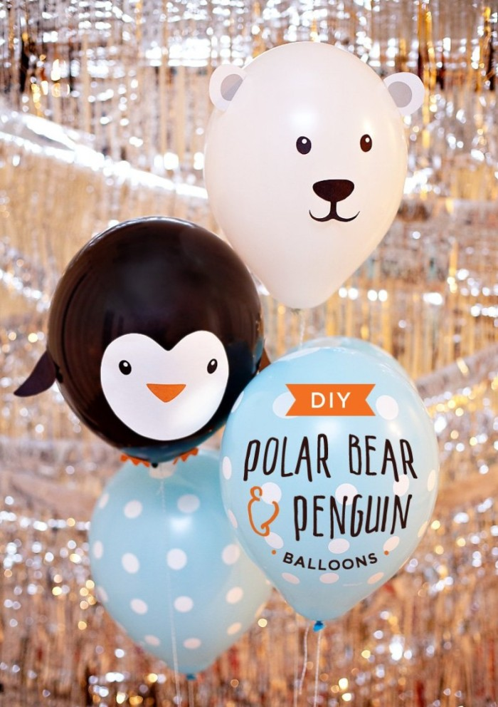 Penguin and Polar Bear Balloons