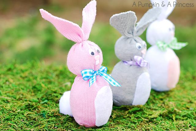 Pumpkin Sock Easter Bunny
