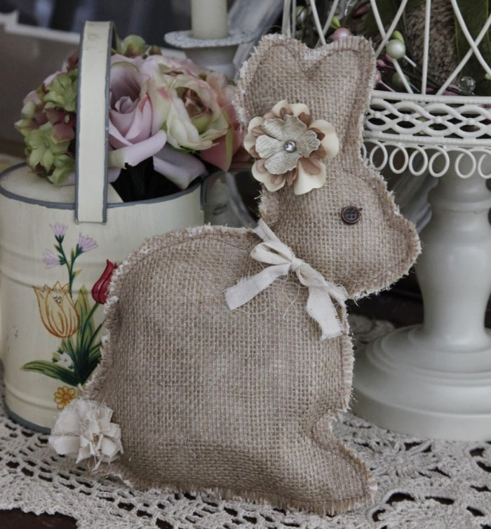 Simple Burlap Bunny