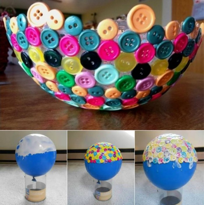 Unique Bowl Using Old Buttons