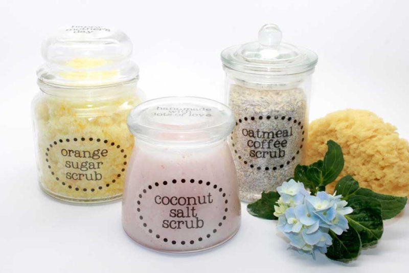 DIY Body Scrub Jars