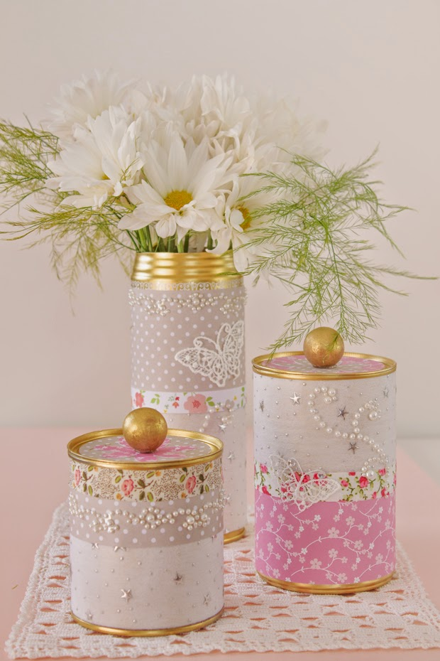 DIY Golden Tin Can