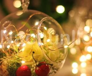 DIY Romantic String Light Centerpiece & Lamps