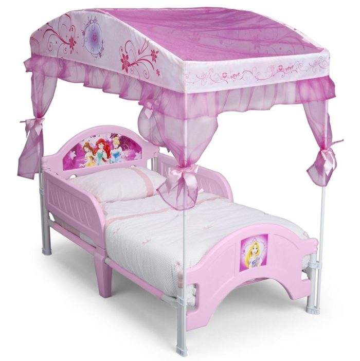 Disney Princess Canopy Toddler Bed