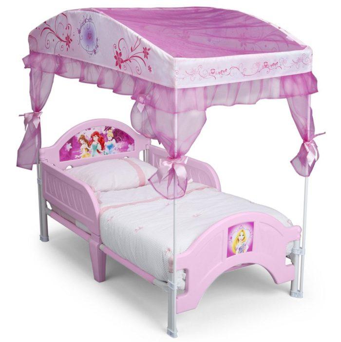 Disney Princess Canopy Toddler Bed