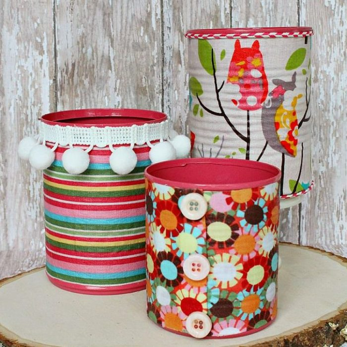 Fabric Covered Can Organizers
