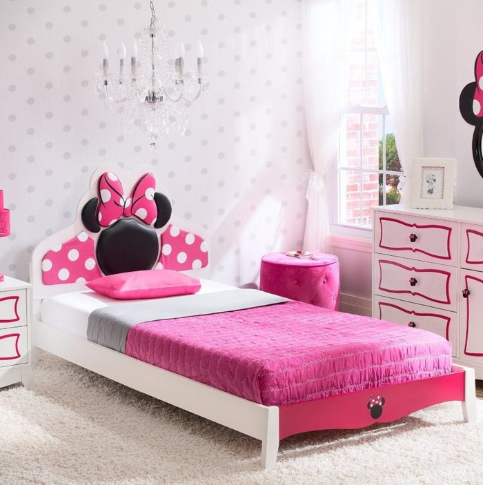 Minnie Mouse Themed Bed