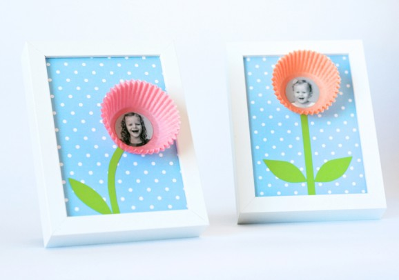 DIY Paper Cup Photo Frame