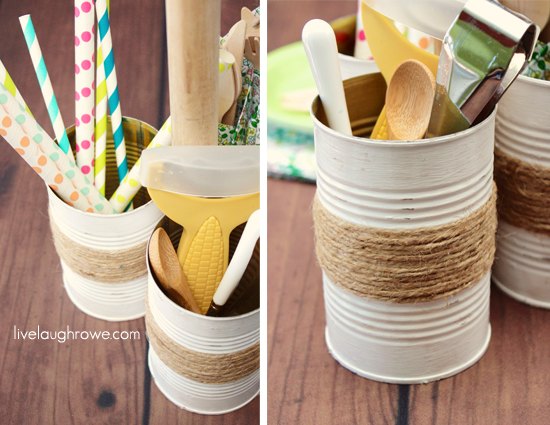 Rustic Twine Wrapped Vase
