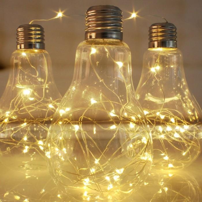 DIY Romantic String Light Centerpiece & Lamps Home Designing