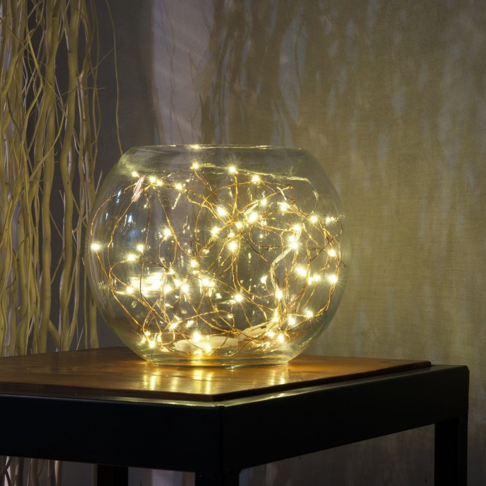 String Light in Bowl Decor