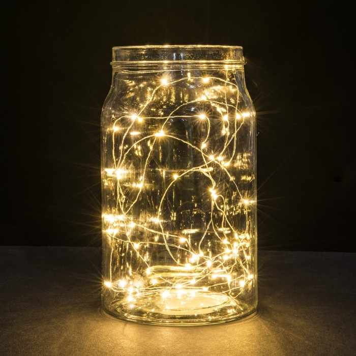 String Light in Jar