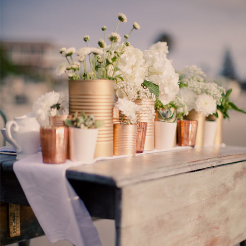 Tin Can Centerpiece