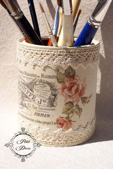 Tin Can Pen Stand