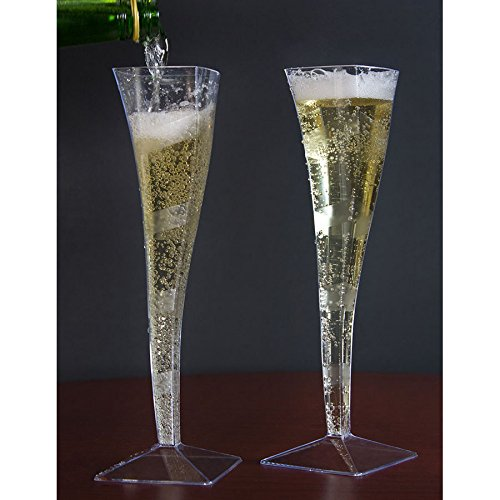 Clear Plastic Champagne Flute