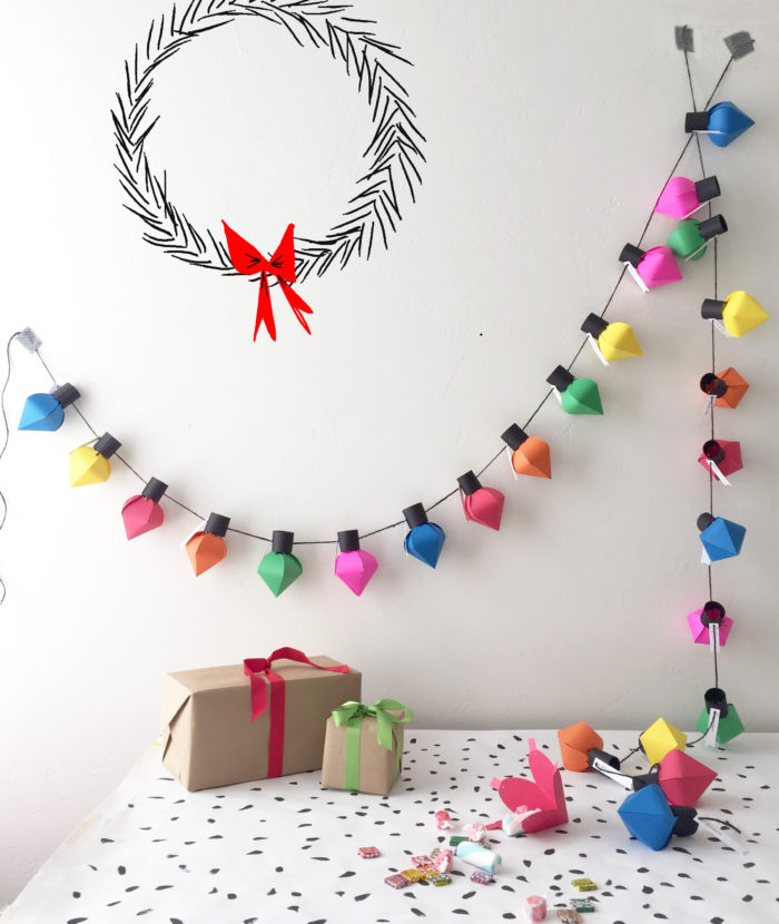 DIY Bulb Advent String Lights