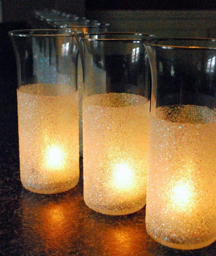DIY Glitter Vase